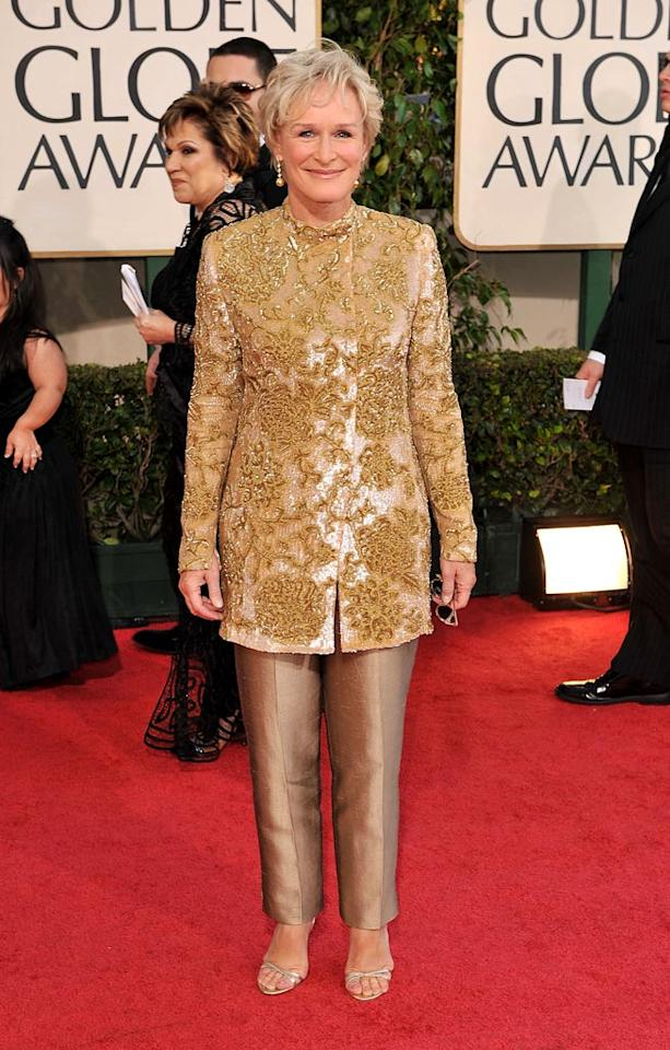 """Glenn Close arrives at the 66th Annual Golden Globe Awards in Beverly Hills. Steve Granitz/<a href=""""http://www.wireimage.com"""" target=""""new"""">WireImage.com</a> - January 11, 2009"""