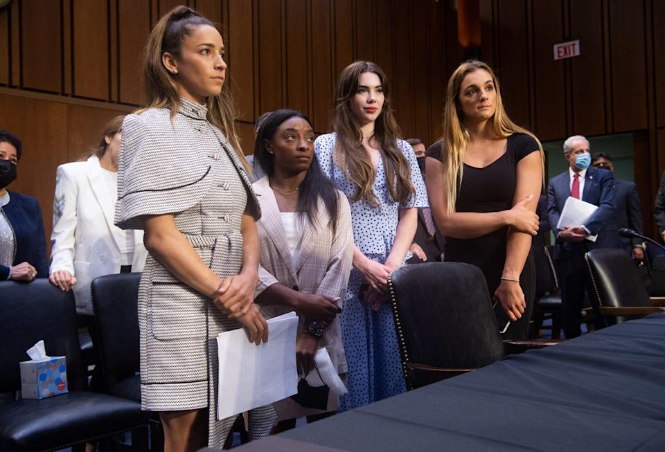 Olympic gymnasts at Larry Nassar hearing