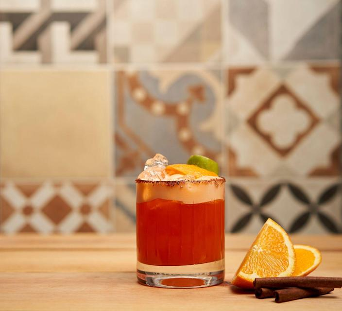 """<p><strong>Ingredients</strong></p><p>1.5 oz Cazadores Reposado tequila<br>1 oz Bols Pumpkin Spice liqueur<br>2 oz orange juice<br>.5 oz lemon juice<br>Dash of cinnamon powder</p><p><strong>Instructions</strong></p><p>In a cocktail shaker combine all the ingredients with ice, shake and serve over the rocks. Cinnamon sugar rim glass and orange peel for garnish.</p><p><em>B</em><em>y Manny Hinojosa</em></p><p><a class=""""link rapid-noclick-resp"""" href=""""https://go.redirectingat.com?id=74968X1596630&url=https%3A%2F%2Fdrizly.com%2Fcazadores-tequila-reposado%2Fp2422&sref=https%3A%2F%2Fwww.townandcountrymag.com%2Fleisure%2Fdrinks%2Fg2839%2Fhalloween-drinks%2F"""" rel=""""nofollow noopener"""" target=""""_blank"""" data-ylk=""""slk:Buy Now"""">Buy Now</a> Cazadores Reposado tequila, from $18.69</p>"""