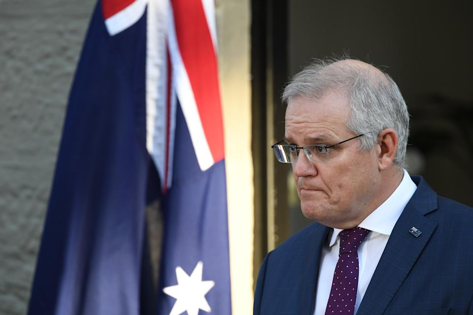 Prime Minister Scott Morrison has accepted the resignation of Christian Porter from the government ministry. Source: Getty