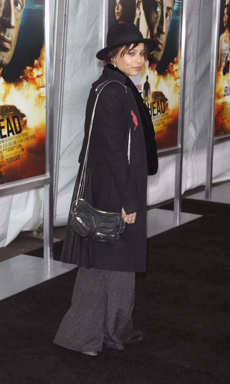 Kravitz attends Bullet To The Head New York premiere at AMC Lincoln Square Theater on January 29, 2013.