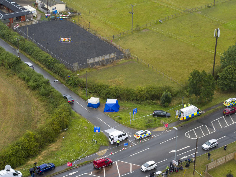 File photo dated 16/8/2019 of an aerial view of the scene at Ufton Lane, near Sulhamstead, Berkshire, where Pc Andrew Harper was killed. Driver Henry Long, 19, has been found not guilty at the Old Bailey of murder, but had ealier pleaded guilty to manslaughter. His passengers Jessie Cole and Albert Bowers, both 18, were cleared of murder but found guilty of manslaughter for the death of Pc Andrew Harper, who had been attempting to apprehend quad bike thieves when he was killed on the night of August 15, 2019.
