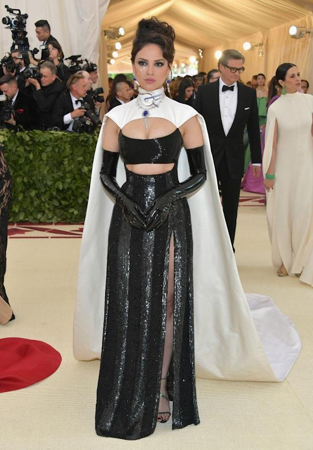 <p>Eiza Gonzalez attends the Heavenly Bodies: Fashion & The Catholic Imagination Costume Institute Gala at The Metropolitan Museum of Art on May 7, 2018 in New York City. (Photo: Getty Images) </p>