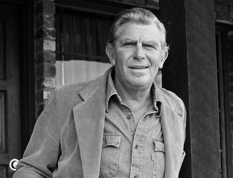 """FILE - This Jan. 31, 1983 file photo shows actor Andy Griffith posing in Los Angeles to promote his upcoming CBS-TV film, """"Murder in Coweta County"""". Griffith, whose homespun mix of humor and wisdom made """"The Andy Griffith Show"""" an enduring TV favorite, died Tuesday, July 3, 2012 in Manteo, N.C. He was 86. (AP Photo/Wally Fong, file)"""