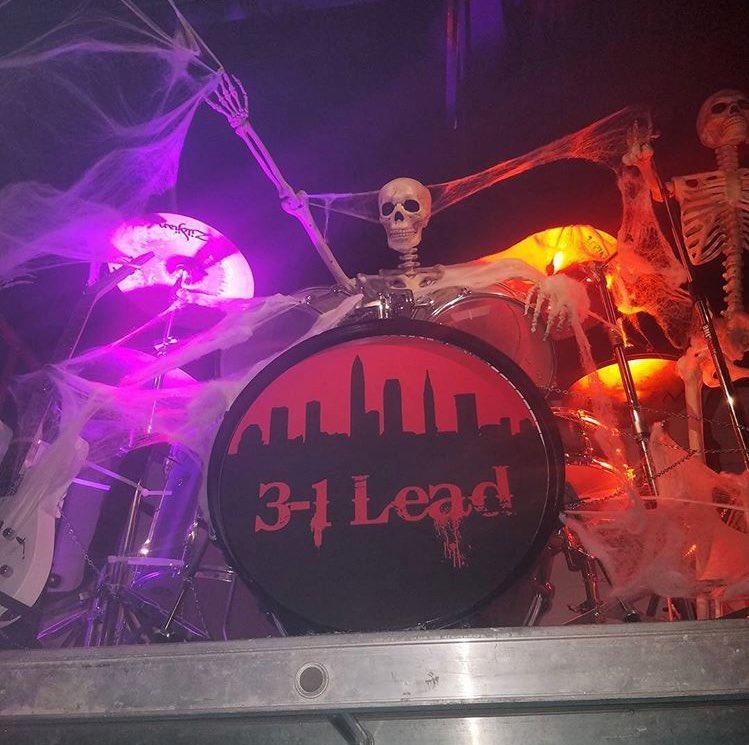LeBron's Halloween party had a truly scary house band. (Photo via @djstephfloss on Instagram)