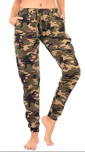 66b4153c If you want to feel comfy but aren't into the sporty look, go for these fun  camo joggers. Throw on a sweater and booties and you've got yourself an  outfit!