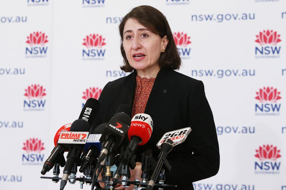 NSW Premier Gladys Berejiklian has praised those in hotspots for coming forward for their jab.