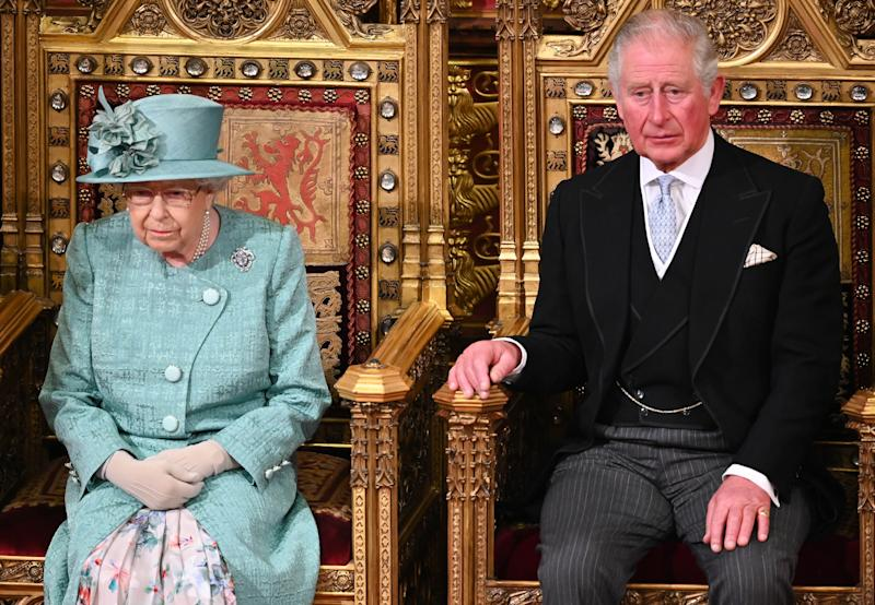 Queen Elizabeth II and Prince Charles, Prince of Wales attend the State Opening of Parliament in the House of Lord's Chamber on December 19, 2019 in London, England. In the second Queen's speech in two months, Queen Elizabeth II unveiled the majority Conservative government's legislative programme to Members of Parliament and Peers in The House of Lords.
