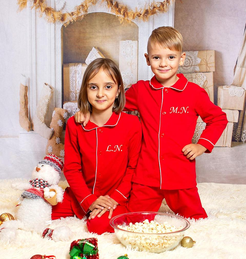 Christmas Pajamas by Sunny Shop by Olesea. Available on Etsy, $from 31 (originally from $62).