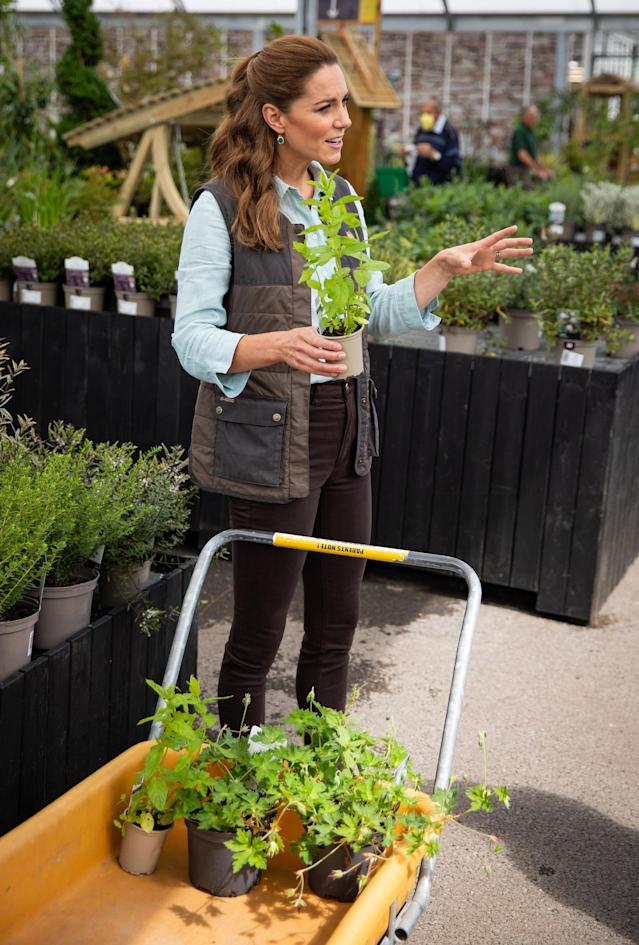 The duchess bought the plants for the garden at her last in-person engagement. (PA Images)