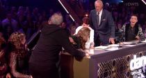 <p>Moments after giving Kate Flannery and her partner, Pasha Pashkov, a 24 out of 30 during season 28, <em>DWTS </em>judge Carrie Ann Inaba missed her chair as she went to sit down and completely laid out across the studio floor. The judge was unharmed and did a pro job of laughing the incident off. Bravo!</p>