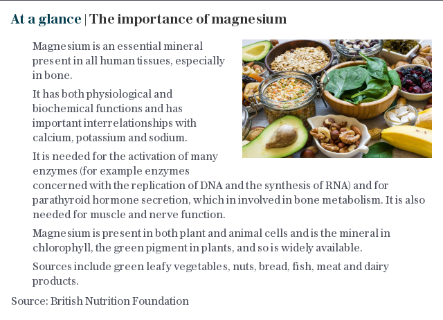At a glance | The importance of magnesium