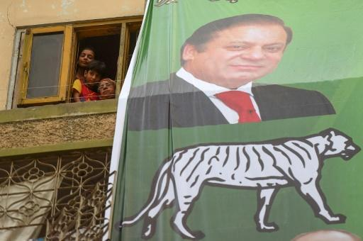 Sharif (pictured on an election poster with his party symbol) took a great gamble in returning to Pakistan days ahead of the July 25 polls