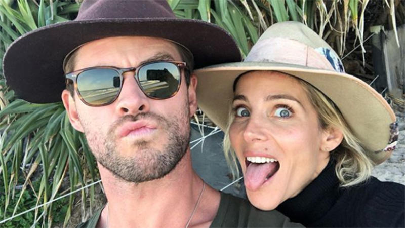 Elsa Pataky pictured with husband Chris Hemsworth