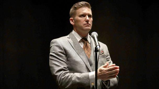 PHOTO: White nationalist Richard Spencer, who popularized the term 'alt-right' speaks during a press conference at the Curtis M. Phillips Center for the Performing Arts, Oct. 19, 2017, in Gainesville, Fla. (Joe Raedle/Getty Images)