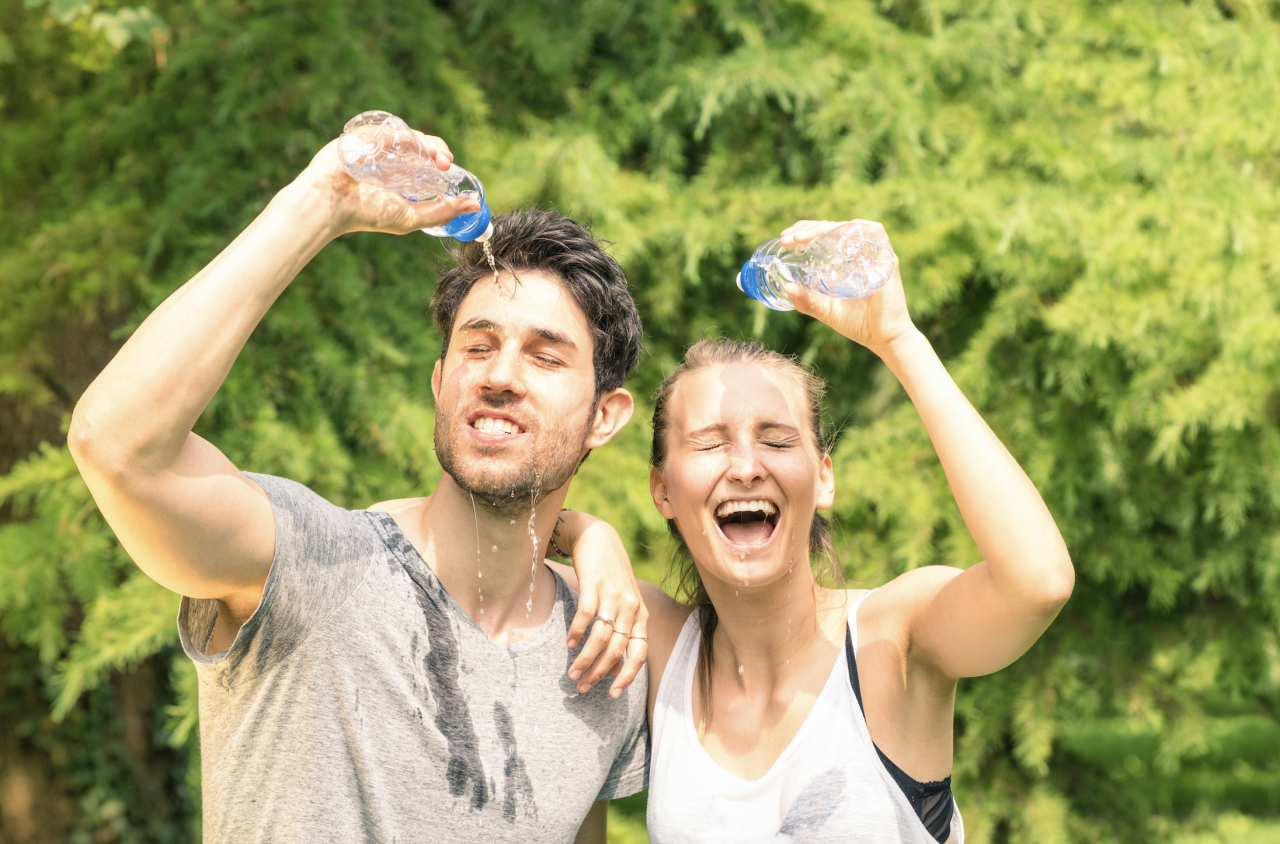 """<p>While <a href=""""https://www.runnersworld.com/training/a20805123/8-ways-to-stay-cooler-during-summer-runs-0/"""" target=""""_blank"""">running in the summer</a> is great in some ways—you don't have to worry about sliding on ice or snow, and the longer days make it easy to sneak in miles before or after work—it has its downsides, particularly the sauna-like <a href=""""https://www.runnersworld.com/advanced/a20807880/summer-running-how-to-stand-the-heat/"""" target=""""_blank"""">heat and humidity</a>. Thankfully, our bodies have adapted over centuries to survive in brutally hot temperatures (think: the plains of the Sahara Desert), with the help of a the state-the-art-cooling system called <a href=""""https://www.runnersworld.com/nutrition-weight-loss/a20827802/how-to-determine-how-much-to-drink/"""" target=""""_blank"""">sweating</a>. </p><p>But in the middle of summer—especially during a heat wave, like the <a href=""""https://www.accuweather.com/en/weather-news/northeast-midwest-to-blister-in-the-sun-as-hottest-weather-in-years-grips-region/70008841"""" target=""""_blank"""">one most of the country is expecting this weekend</a>, which may see temps hovering in the 100s and higher—the heat and humidity level can clock in so high that no matter how much we sweat, we just can't cool down. </p><p><em>[Want to start running? <a href=""""https://order.hearstproducts.com/subscribe/hstproducts/238916"""">The Big Book of Running for Beginners</a> will take you through everything you need to know to get started, step by step] </em></p><p>When this happens, it's critical for runners to protect themselves from overheating while exercising outdoors, which can cause serious <a href=""""https://www.runnersworld.com/health-injuries/a27912611/heat-illness/"""" target=""""_blank"""">heat-related illnesses</a>. To avoid these potential risks, make sure to listen to your body, be willing adjust your pace and distance as needed, and stay fueled and hydrated. </p><p>Here, <a href=""""https://www.instagram.com/p/B0EEfOjH3pM/"""" target=""""_blank"""">we asked"""