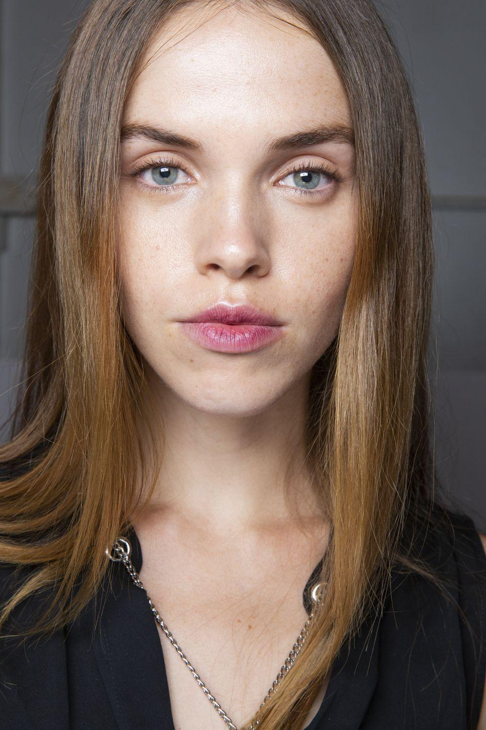 """<p>Makeup artist Grace Lee for Maybelline New York """"juxtaposed the ethereal white and yellow fabrics in the Edwardian-inspired collection with a flushed cheek or berry-stained lip,"""" the brand stated in a release after the show. """"The look is innocent but strong,"""" she said.</p><p><a rel=""""nofollow noopener"""" href=""""https://www.maybelline.com/lip-makeup/lipstick/superstay-matte-ink-city-edition-liquid-lipstick-makeup/composer"""" target=""""_blank"""" data-ylk=""""slk:SHOP"""" class=""""link rapid-noclick-resp"""">SHOP</a><br></p>"""