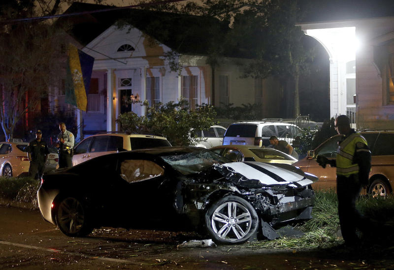 New Orleans police: 2 killed, 6 injured after car hits crowd