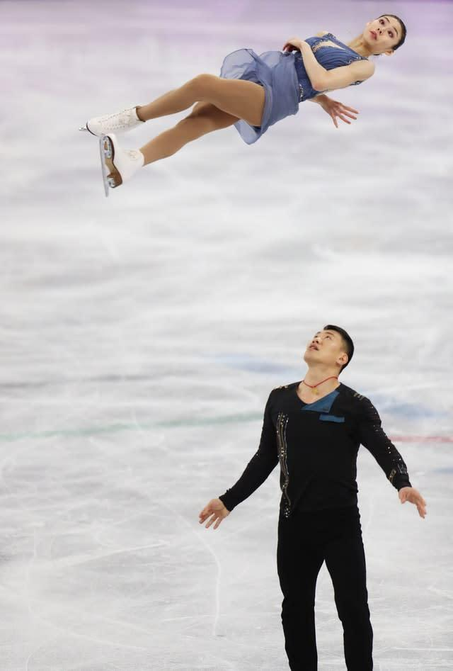 China's Hao Zhang and Yu Xiaoyu compete in the free skate section of the pairs figure skating final during the 2018 Winter Olympics. The athletic and aesthetic pursuit proved alluring to spectators in Pyeongchang, South Korea (Mike Egerton/PA)