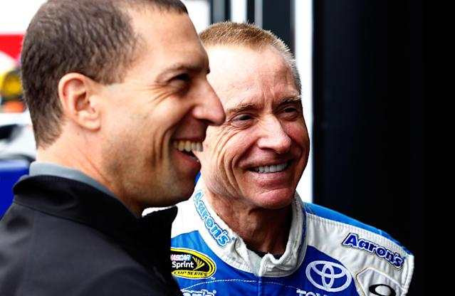 Rob Kauffman (L) is a former co-owner of Michael Waltrip Racing and the chairman of the RTA. (Getty Images)