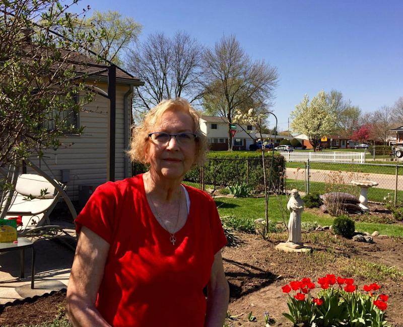 Lorraine Ostrowski has lived in Macomb County for 50 years (Andrew Buncombe)