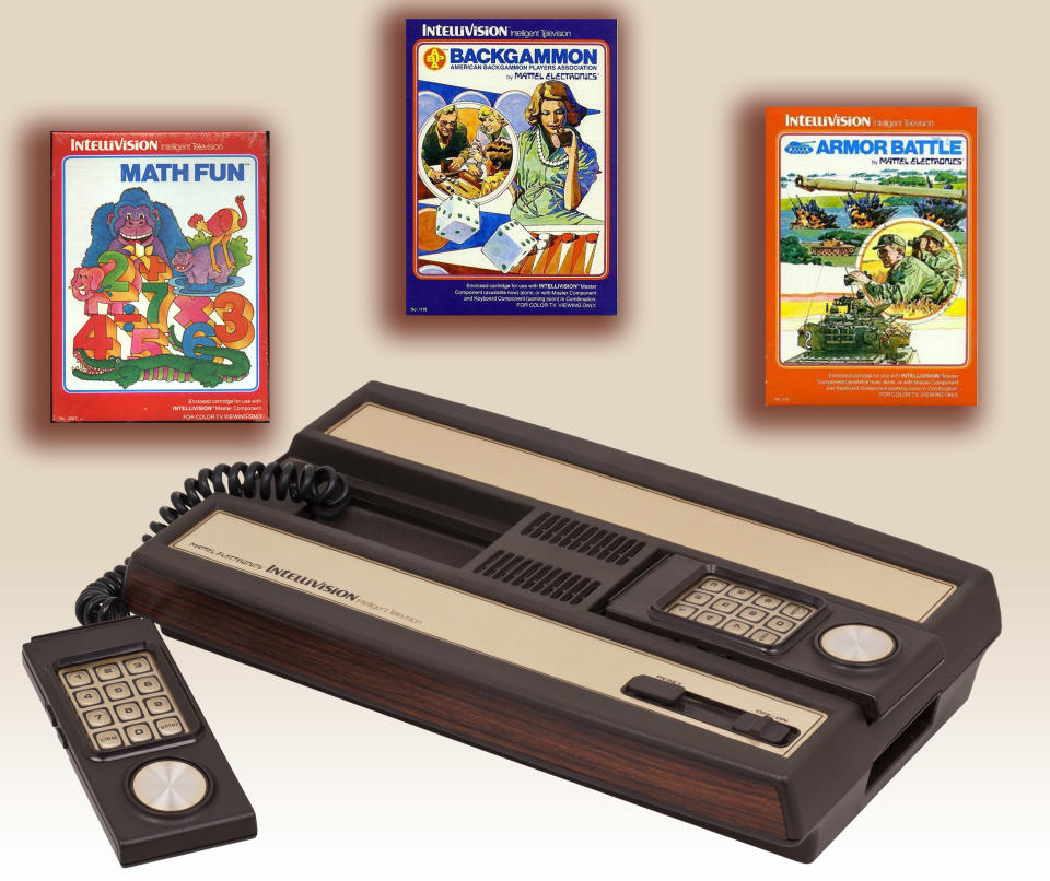 The launch of this Atari 2600 competitor came with just four games, which would have been fine had they been any more exciting. But when you kick off with The Electric Company Math Fun and ABPA Backgammon, it's a pretty clear sign that you're not sure who your audience is. The system would get much better over time, however.