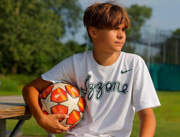 Matthew Burris, 13, was able to attend soccer camp this summer after all. Matthew had a mild case of COVID in January but shortly after started developing breathing problems, especially on the soccer field.