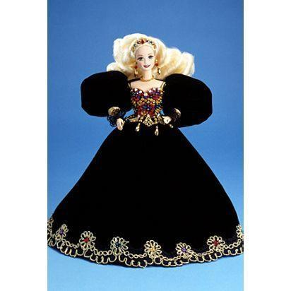 """<p>Come through Barbie! Jeweled Splendor was released in 1996 for the FAO Schwarz Floral Signature Collection, and nowadays it sells for <a href=""""https://www.ebay.com/sch/i.html?_from=R40&_nkw=Jeweled+Splendor+1995+Barbie+Doll&_sacat=0&_sop=16"""" rel=""""nofollow noopener"""" target=""""_blank"""" data-ylk=""""slk:around $150"""" class=""""link rapid-noclick-resp"""">around $150</a>. Unless you shaved her hair off like I did, in which case she's...worthless.</p>"""