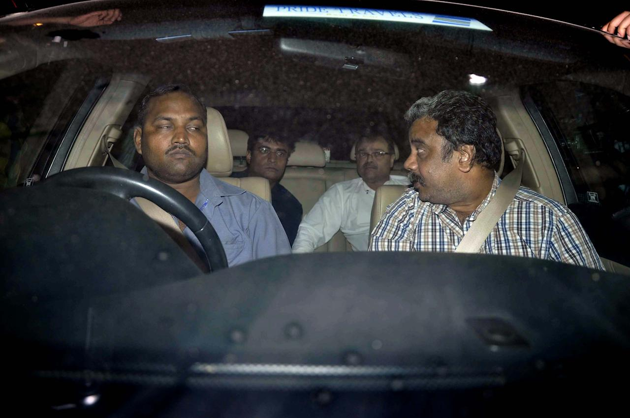 Gurunath Meiyappan, the son-in-law of BCCI chief N Srinivasan, at Mumbai Police Crime Branch in Mumbai on May 24, 2013. (Photo: Sandeep Mahankal/IANS)