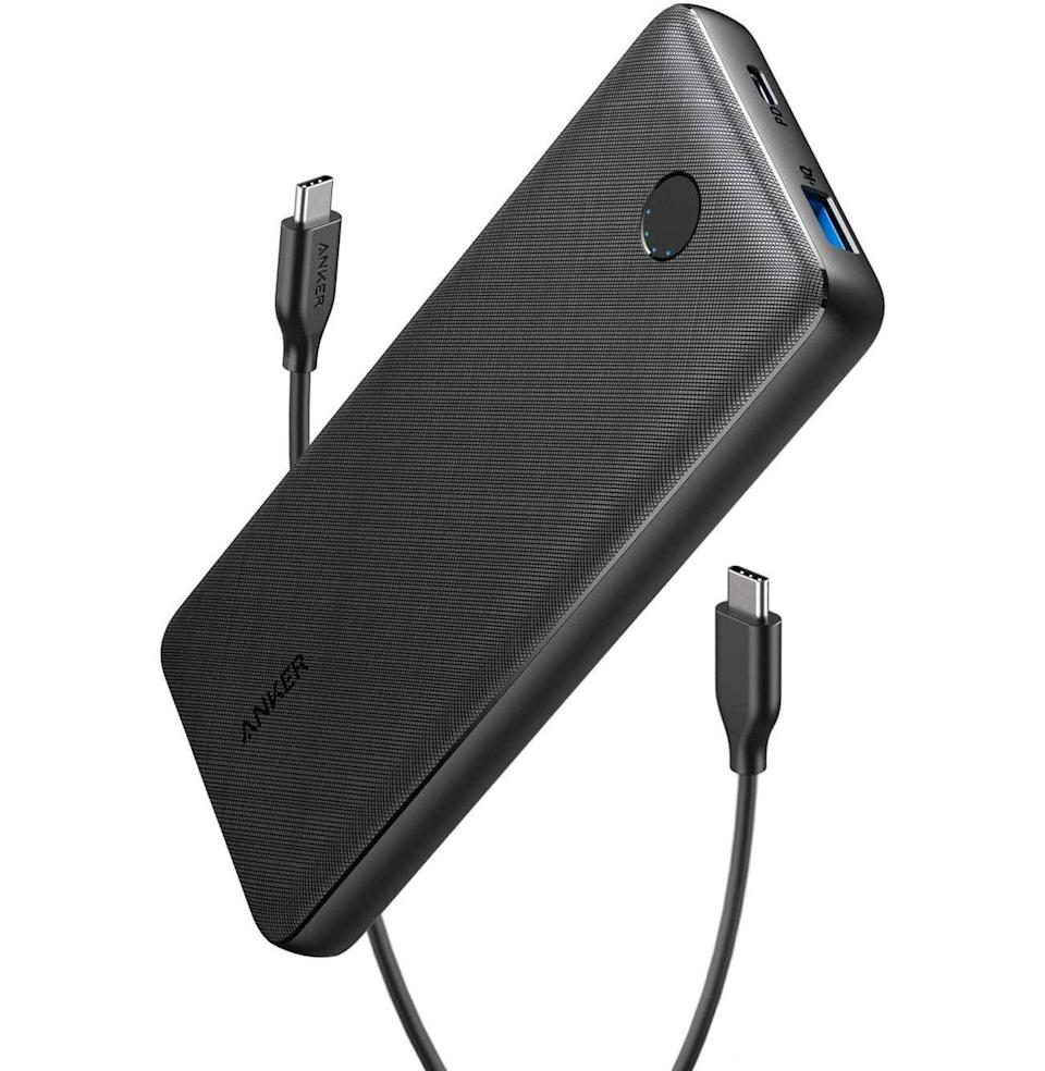 """<p><strong>Anker</strong></p><p>amazon.com</p><p><strong>$49.99</strong></p><p><a href=""""https://www.amazon.com/Anker-PowerCore-Essential-Portable-Compatible-dp-B08LG2X98F/dp/B08LG2X98F?tag=syn-yahoo-20&ascsubtag=%5Bartid%7C10054.g.29155470%5Bsrc%7Cyahoo-us"""" rel=""""nofollow noopener"""" target=""""_blank"""" data-ylk=""""slk:Buy"""" class=""""link rapid-noclick-resp"""">Buy</a></p><p>This Anker charger will charge just about any device you have, iPads included, in as fast and dependable a manner as possible. There is not much more to ask of a charger. </p>"""