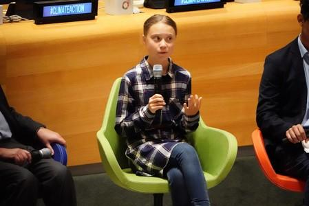 Swedish environmental activist Thunberg appears at Youth Climate Summit at UN's HQ in New York