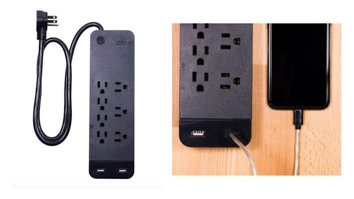 You'll need this power strip to keep all your tech charged.