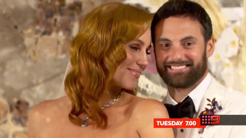 MAFS stars Cam and Jules' wedding
