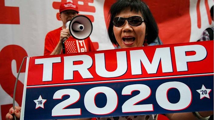 Trump supporter rally in New York City in 2019