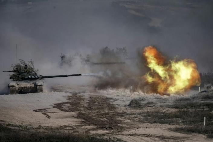 Up to 250 tanks and around 450 infantry combat vehicles and armoured personnel carriers are taking part in the games
