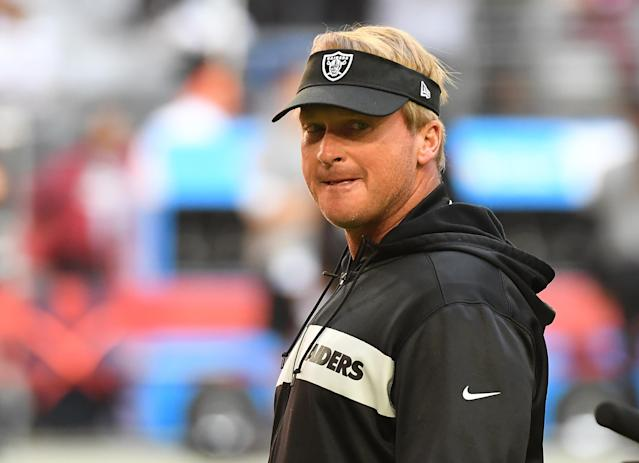 That Jon Gruden makes the final call on all things football with the Raiders comes as no surprise. (Getty)