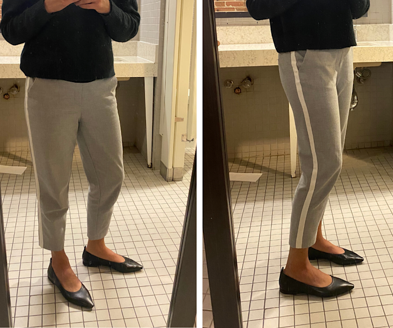 The Everlane 40-Hour Flats in Black, complete with a gap at my heels.