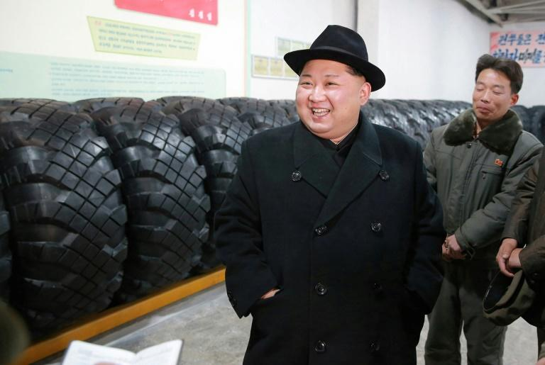 North Korean leader Kim Jong-Un -- shown here in an undated picture released by North Korea's official Korean Central News Agency (KCNA) on December 3, 2017 -- has sparked international fury with his dogged pursuit of a weapons program
