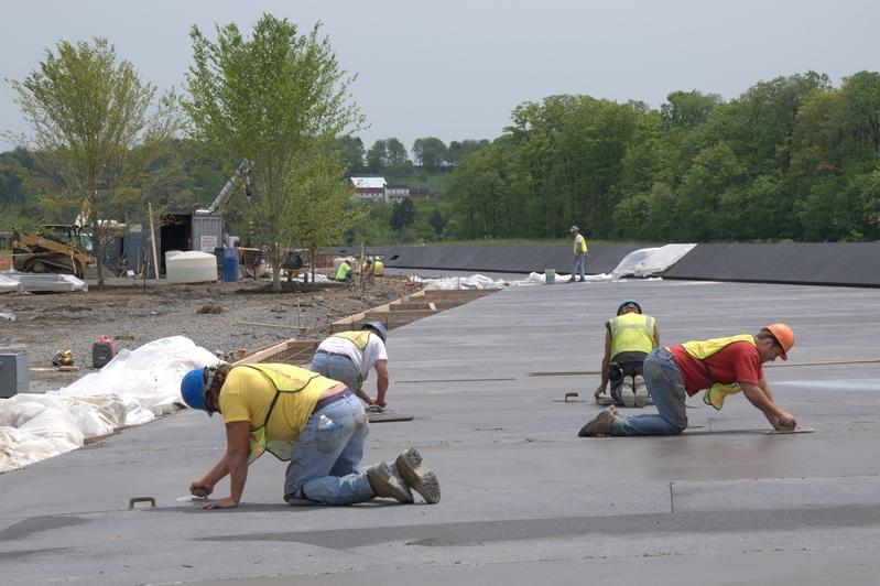 Paving prep work on the Memorial Plaza, May 2011. (Photo by Richard Snodgrass)