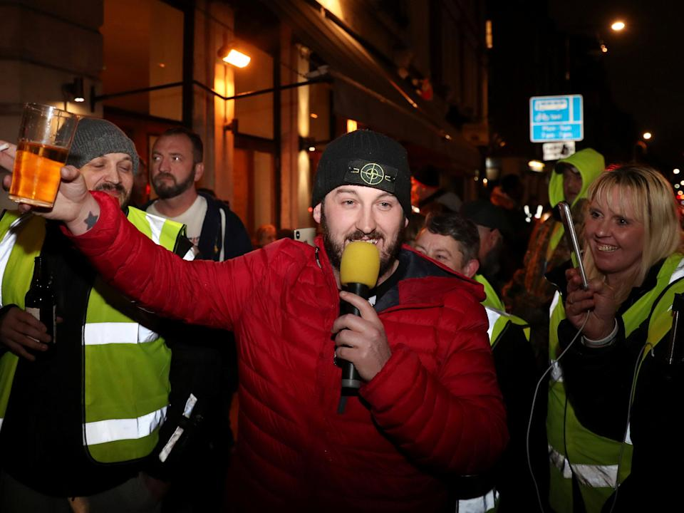 James Goddard pictured after leaving a police station in central London in January 2019Reuters