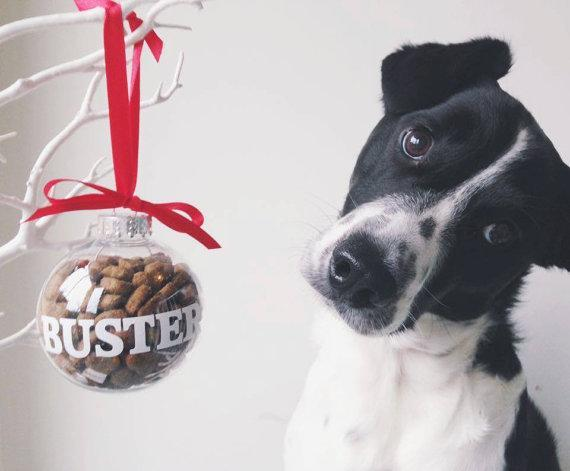 """<p>This personalised plastic bauble is refillable so it can be used every year.</p><p>£5 <a href=""""https://www.etsy.com/uk/listing/256750015/christmas-pet-decoration-dog-christmas?ga_order=most_relevant&ga_search_type=all&ga_view_type=gallery&ga_search_query=pet&ref=sr_gallery_13"""" rel=""""nofollow noopener"""" target=""""_blank"""" data-ylk=""""slk:From Leoni With Love"""" class=""""link rapid-noclick-resp"""">From Leoni With Love</a></p>"""