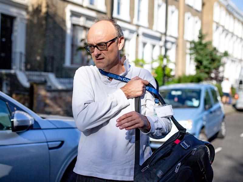 Dominic Cummings, chief adviser to Boris Johnson leaves his London home on 21 July 2020: Getty
