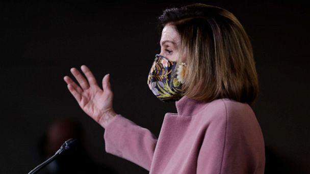 PHOTO: House Speaker Nancy Pelosi speaks during her first weekly news conference under the new Biden administration on Jan. 21, 2021 in Washington, D.C. (Justin Sullivan/Getty Images, FILE)