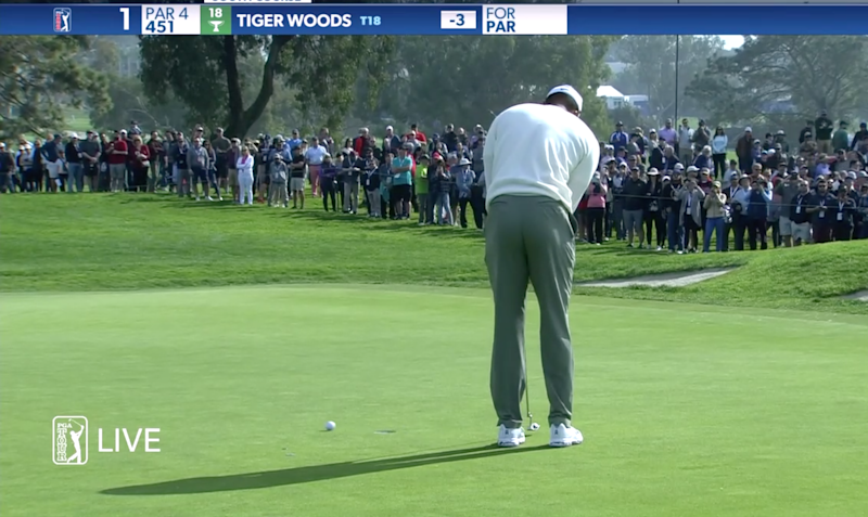 Tiger Woods' nightmarish history on Torrey Pines' first hole continues with stunning four-putt