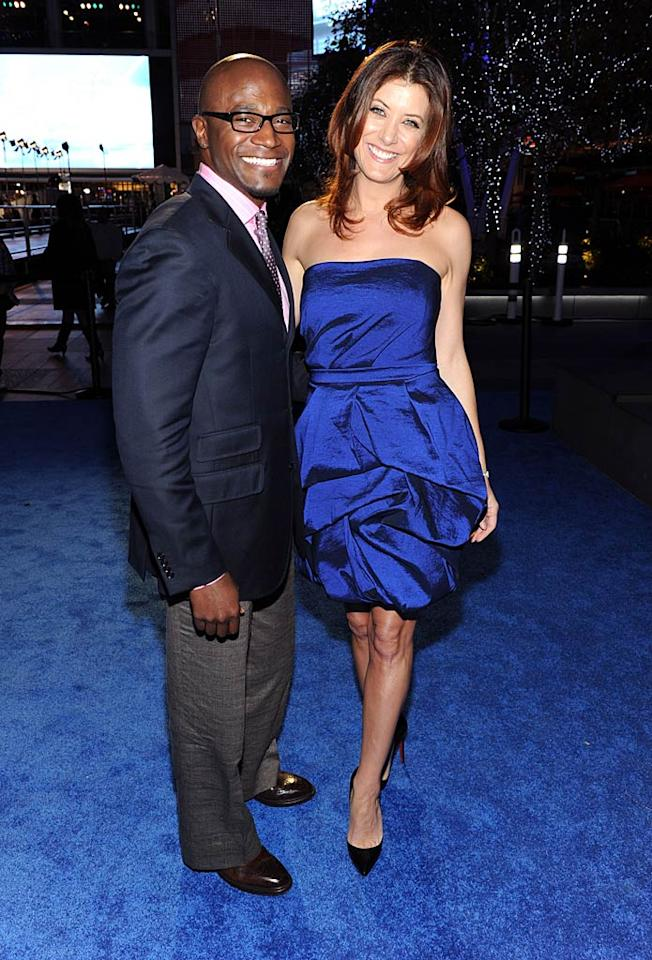 """""""Private Practice's"""" Taye Diggs could have used a steamer before hitting the red carpet, but his beautiful co-star Kate Walsh was the epitome of elegance in a royal blue dress and pointy black pumps. Frazer Harrison/<a href=""""http://www.gettyimages.com/"""" target=""""new"""">GettyImages.com</a> - January 5, 2011"""