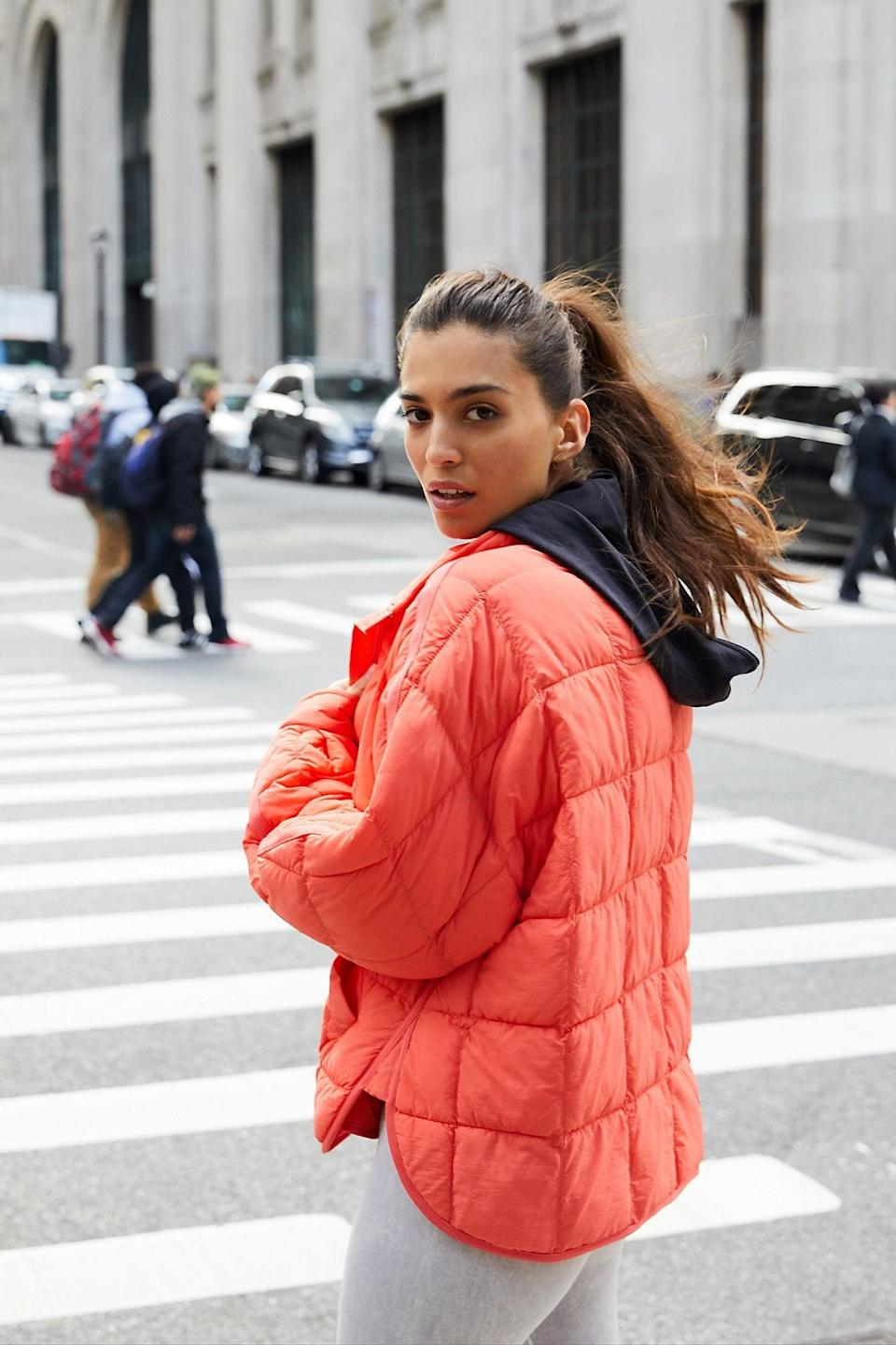 """<p>This <a href=""""https://www.popsugar.com/buy/Pippa-Packable-Puffer-Jacket-527153?p_name=Pippa%20Packable%20Puffer%20Jacket&retailer=freepeople.com&pid=527153&price=148&evar1=fab%3Aus&evar9=45460327&evar98=https%3A%2F%2Fwww.popsugar.com%2Ffashion%2Fphoto-gallery%2F45460327%2Fimage%2F46978003%2FPippa-Packable-Puffer-Jacket&list1=shopping%2Cgifts%2Cfree%20people%2Choliday%2Cgift%20guide%2Cgifts%20for%20women&prop13=api&pdata=1"""" class=""""link rapid-noclick-resp"""" rel=""""nofollow noopener"""" target=""""_blank"""" data-ylk=""""slk:Pippa Packable Puffer Jacket"""">Pippa Packable Puffer Jacket</a> ($148) folds and zips up so tiny, making it the perfect piece to travel with.</p>"""