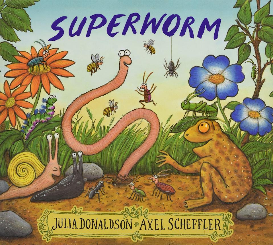 Superworm book cover (Julia Donaldson/Axel Scheffler/PA)