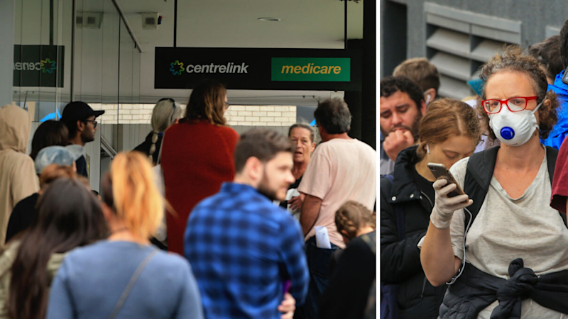 Centrelink lines are again hours-long. Source: Getty