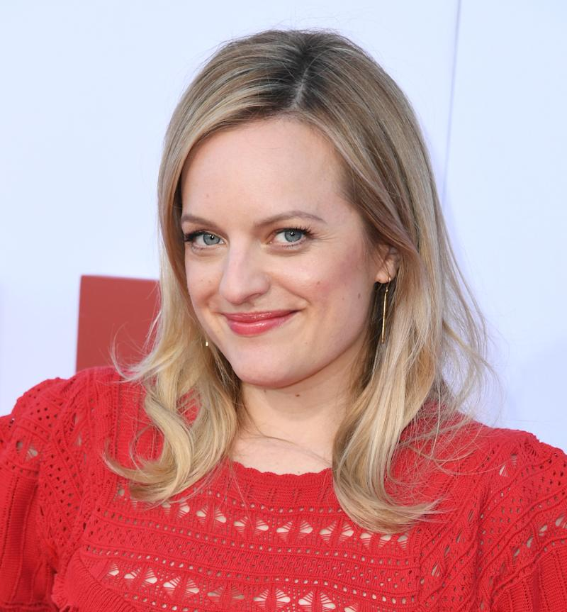 "WESTWOOD, CALIFORNIA - AUGUST 06: Elisabeth Moss attends Hulu's ""The Handmaid's Tale"" Celebrates Season 3 Finale at Regency Village Theatre on August 06, 2019 in Westwood, California. (Photo by Jon Kopaloff/Getty Images)"