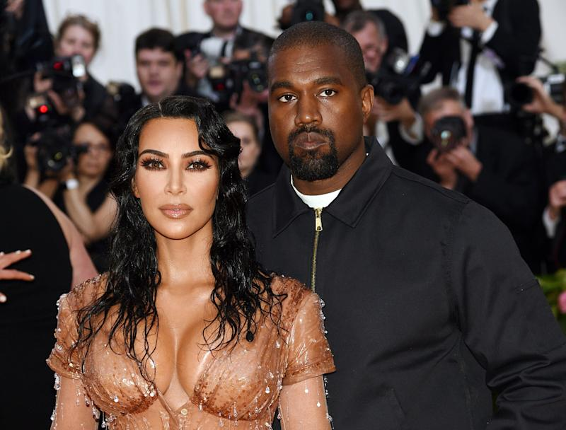 Party of four! Kim Kardashian and Kanye West's newest addition has arrived. (Photo: Evan Agostini/Invision/AP)